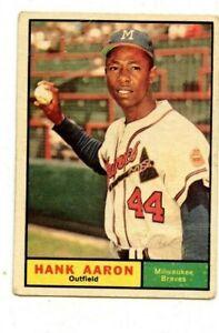1961 TOPPS #415 HANK AARON BRAVES  fr-gd