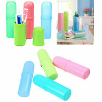 4PC Portable Travel Camping Toothbrush Protect Holder Case Box Cover Cup Set