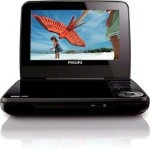 """Philips 7"""" LCD Portable DVD Player BLACK PET749/37 car travel home"""