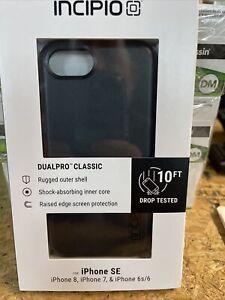 INCIPIO DUALPRO CLASSIC PHONE CASE iphoneSE,iPhone 8,iPhone 7, iPhone 6s/6- BLK