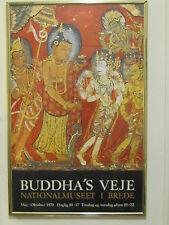 1970 vintage poster Buddha's Veje Brede Denmark buddha roads buddhism art print
