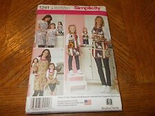 "Simplicity Pattern 1241 Misses~Childs~18"" Doll  - Aprons from Studio Cherie CUTE"
