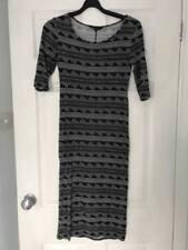 Full Length Striped Sleeveless Maternity Dresses