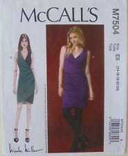 McCalls 7504 Misses Nicole Miller Dresses Sewing Pattern Sz 14-22