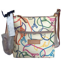 "NWT DOONEY & BOURKE ""LETTER CARRIER"" WHITE MULTICOLOR  CROSSBODY BAG"