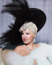 MAE WEST IN LARGE FEATHER HAT SEXY COLOR PHOTO BY CHIP SPRINGER