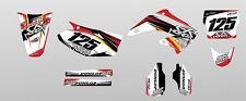 KIT ADESIVI GRAFICHE #2smoke WHITE  HONDA CR 125 250 2003 2004 2005 2006 2007