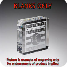 Crystal Square Blank Paperweight with Gift Box