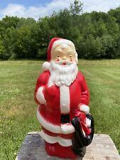 "Vintage 1968 Empire Plastics Blow Mold Santa 13"""
