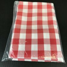 """Red & White Check Tablecloth 54"""" Square Checked 100% Polyester New"""