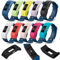 10X Silikon Armband Hülle Band Strap Cover Case Schutz für Fitbit Charge 2 Uhr