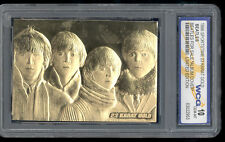 1996 The Beatles For Sale Sportstime 23kt Gold Card Gem Mint 10