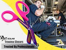 Heavy Duty Military Style Trauma Emtparamedic Shears Pink Multi Color Blades
