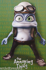 POSTER : MUSIC : CRAZY FROG - THE ANNOYING THING - GREEN- FREE SHIP #3453 RP72 V