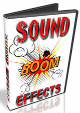 SOUND EFFECTS- FX- OVER 8,700+ PROFESSIONAL EFFECTS- DVD - WAV SAMPLES - FILES