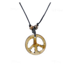 COLLIER PENDENTIF PEACE AND LOVE  NEPAL YAK A60