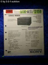 Sony Service Manual STR A17 / D159 Receiver (#1392)
