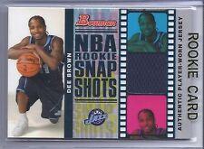 2006-2007 Bowman Basketball Dee Brown NBA Rookie Snap Shots Relics RC #132/199