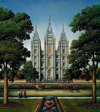 DOWDLE FOLK ART COLLECTORS JIGSAW PUZZLE SALT LAKE TEMPLE 500 PCS LATTER-DAY STS