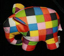 "Elmer Patchwork Plush Elephant David McKee 6"" Colorful Patches Crocodile Creek"