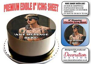 Machine Gun Kelly Lunettes de Soleil Personnalisé A4 Glaçage Comestible Cake Topper Anniversaire