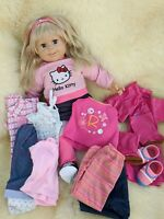 Smoby Rosie 2ft Toddler Soft Doll with a Bundle of Dolls Clothes Outfits