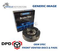 OEM SPEC FRONT DISCS PADS 256mm FOR VOLKSWAGEN GOLF MK3 1.6 1995-97
