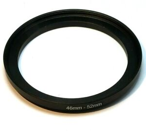 46mm to 52mm Step-up ring Metal adapter  double threaded for lens filter