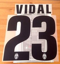 2012-13 JUVENTUS terza & 2013-14 AWAY SHIRT VIDAL #23 STILSCREEN NOME NUMERO SET