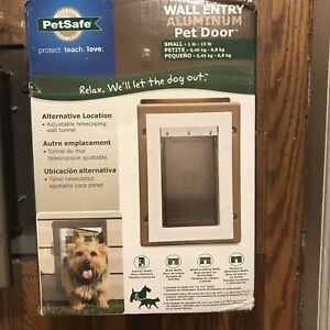 New PetSafe Wall Dual Entry Telescoping Pet Dog Door With Closing Panel Small