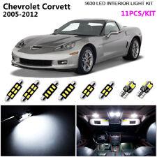 11Pcs 5630 LED Xenon White 6K Interior Light Kit For 2005-2012 Chevrolet Corvett