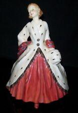 "1945 Royal Doulton Bone China Figurine ""The Ermine Coat� Hn1981 England 7�H"