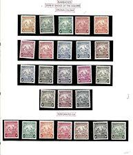 BARBASOS (L26)1938 SG248-56a INC ALL SHADES & PERF VARAITIONS SET 25 MM CAT £450