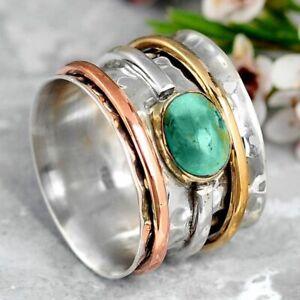 Fashion 925 Silver Handmade Turquoise Ring Women Wedding Jewelry Gift Size 6-13