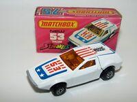 Matchbox Superfast No 53 Tanzara Streakers ORANGE Tampo NMIB Very Rare