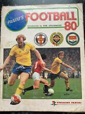 Panini Football 80 Sticker Album- approx 65% complete - includes Autographs