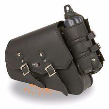 Left Side PVC Swing Arm Bag w/ Bottle Holder, Interior Gun Pocket for Harley's