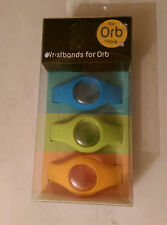 Fitbug ORB Wristbands 3-pack Blue Green Orange
