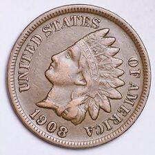 1908-S Indian Head Small Cent CHOICE XF FREE SHIPPING E181 RPT