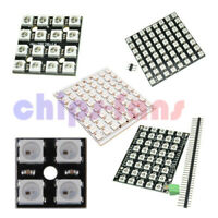 4//16//40//64Bit WS2812 Matrix LED 5050 RGB Full-Color Driver Black Board F Arduino