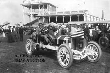 Thomas Flyer in 1908 French Grand Prix Dieppe Lewis Strang race photo photograph