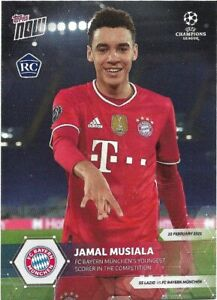 TOPPS NOW UEFA CHAMPIONS LEAGUE 2020/21 JAMAL MUSIALA ROOKIE CARD