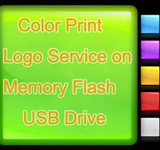 Color Print Logo Service on Light Color Memory Flash USB Drive Custom Design