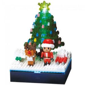 NANOBLOCK OPTICAL FIBER LED LIGHT UP CHRISTMAS TREE NBH-168 300 PIECES