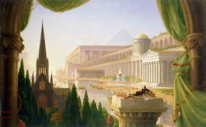 Thomas Cole Architect's Dream Giclee Canvas Print Paintings Poster LARGE SIZE
