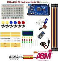 Dispositivo d'avviamento Kit MEGA 2560 R3 Breadboard DEL LCD SG90 Jumper Wire