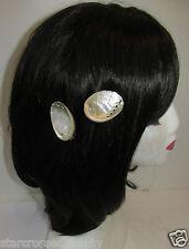 Véritable coquille de mer plage Sirène pinces à cheveux clip nuptiale blanc ivoire silver pearl S08