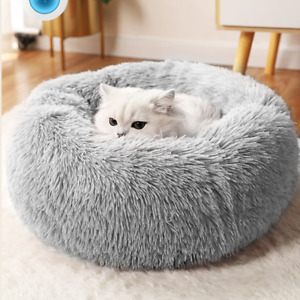 Round Cat Beds House Soft Long Plush Best Pet Dog Bed For Dogs Basket Cushion Ca
