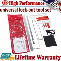 12X Car Door Open Unlock Tool Kit Lock Out Key Lost Emergency Air Pump Universal