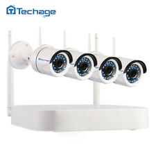 Techage 4CH 720P Wireless NVR 1.0MP Wifi IP Camera CCTV Home Security System